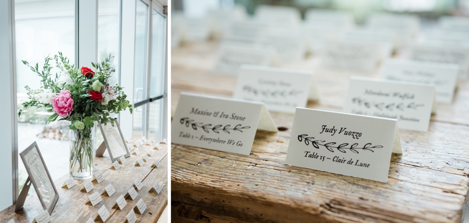 The Garrison Wedding, The Garrison venue, Hudson Valley wedding, hudson valley wedding photographer, catskills wedding photographer, the garrison wedding photos, best catskills wedding photographer, table card ideas, greenery table, placecards