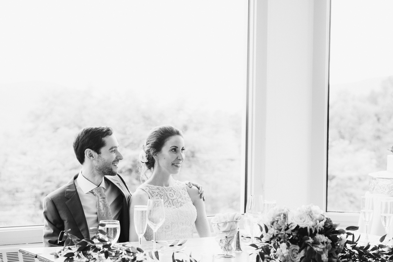 The Garrison Wedding, The Garrison venue, Hudson Valley wedding, hudson valley wedding photographer, catskills wedding photographer, the garrison wedding photos, best catskills wedding photographer, wedding photo inspo, wedding moment inspiration, black and white, dinner moment