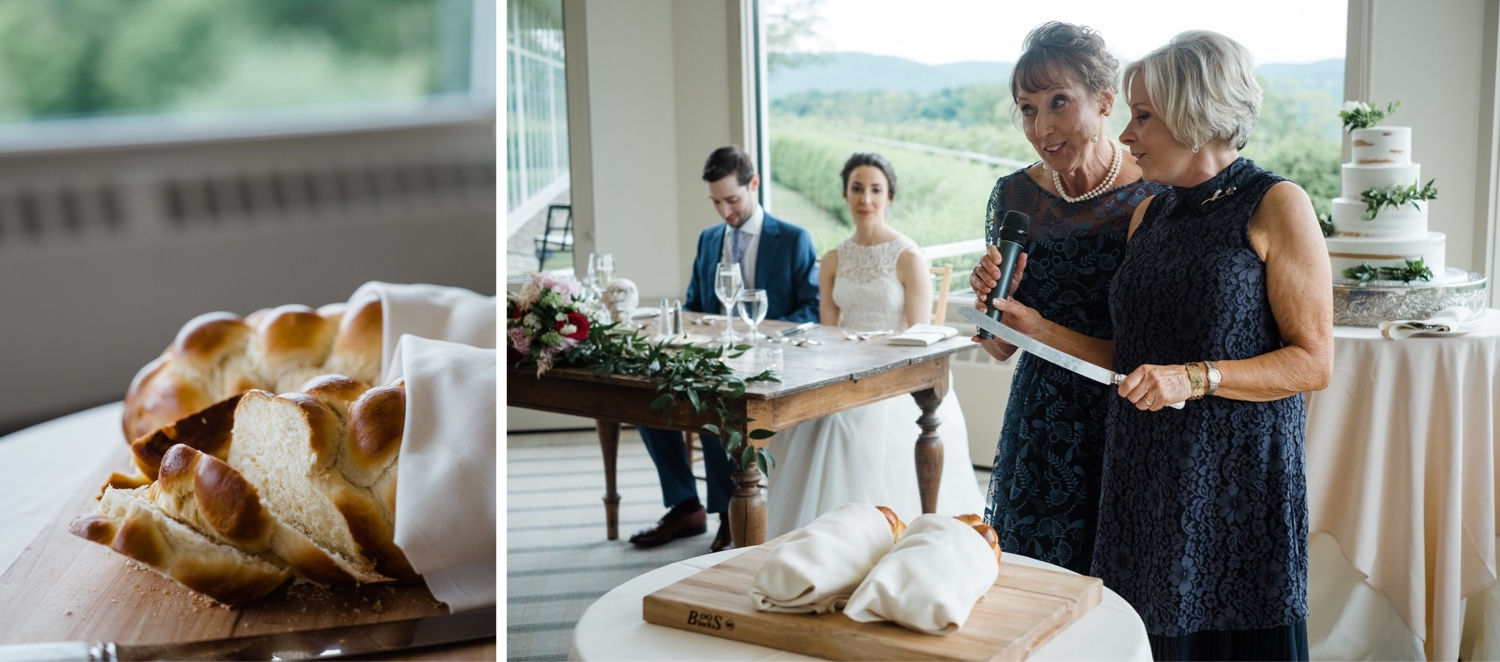The Garrison Wedding, The Garrison venue, Hudson Valley wedding, hudson valley wedding photographer, catskills wedding photographer, the garrison wedding photos, best catskills wedding photographer, wedding photo inspo, wedding moment inspiration, challah slicing, challah wedding ideas