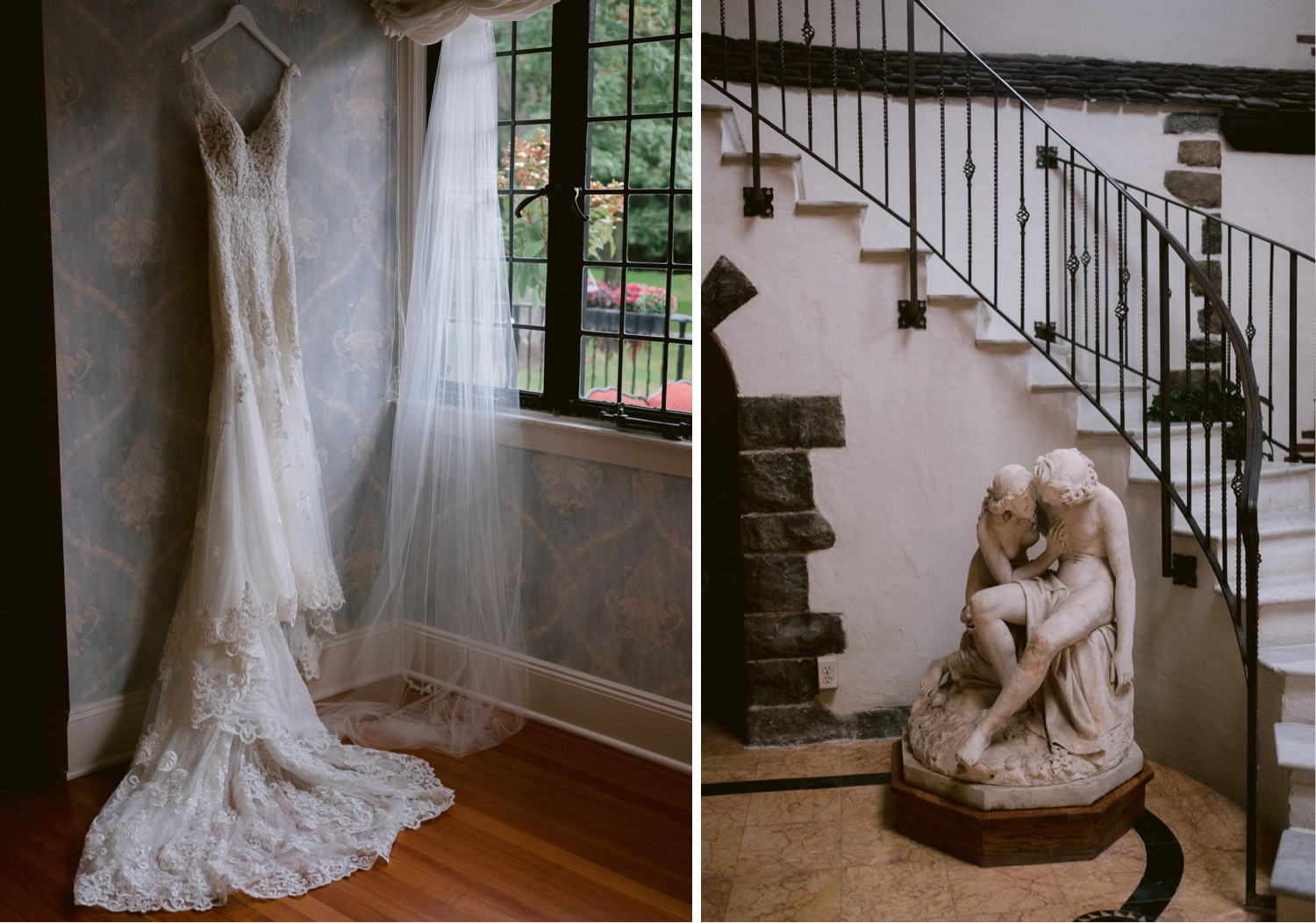 Pleasantdale Chateau Wedding, Pleasantdale Chateau Wedding Photos, Pleasantdale Chateau New Jersey, Best New Jersey Wedding Photographer, Luxury Wedding, Castle Wedding Photographer, Pleasantdale Chateau Wedding Photographer, girls getting ready, wedding dress photo ideas