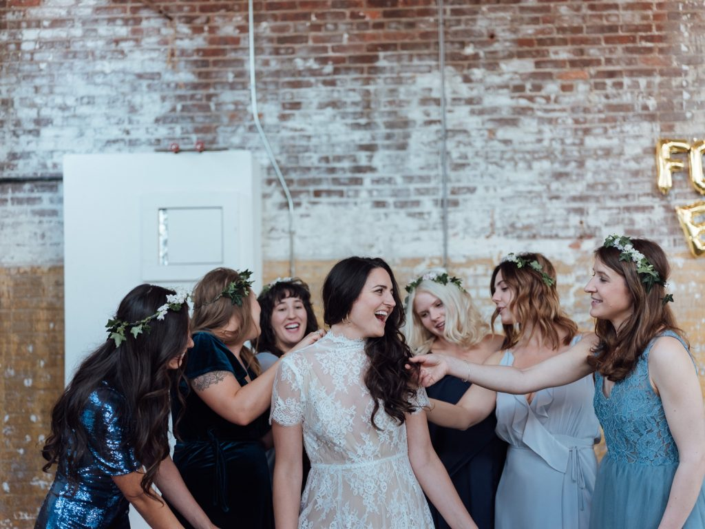 The Greenpoint Loft, The Greenpoint Loft Wedding, The Greenpoint Loft Wedding Photos, Greenpoint Loft Wedding, Brooklyn Wedding Photographer, Best New York Wedding Photographer, Brooklyn Loft Wedding, Brooklyn Wedding Coven, Shareen Bridal, Mallory Pace,